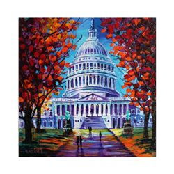 "Yana Rafael ""The Capital"" Hand Signed Original Painting on Canvas with COA"