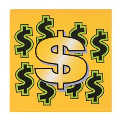 """Steve Kaufman (1960-2010), """"Dollar Sign State 4"""" Limited Edition Silkscreen on Canvas, Numbered 37/5"""