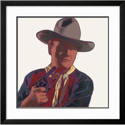"Andy Warhol ""Cowboys & Indians: John Wayne, 1986"" Custom Framed"