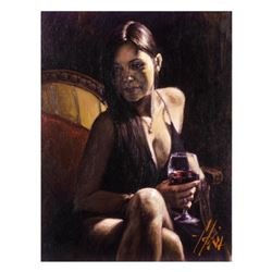 """Fabian Perez, """"Monica"""" Hand Textured Limited Edition Giclee on Board. Hand Signed and Numbered."""
