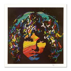 """KAT, """"Jim Morrison"""" Limited Edition Lithograph, Numbered and Hand Signed with Certificate of Authent"""
