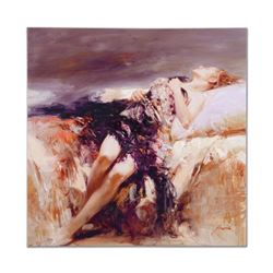 """Pino (1939-2010), """"Ecstasy"""" Artist Embellished Limited Edition on Canvas (36"""" x 36""""), AP Numbered an"""