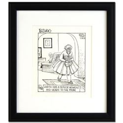"""Bizarro! """"Prom"""" is a Framed Original Pen & Ink Drawing, by Dan Piraro, Hand Signed by the Artist wit"""