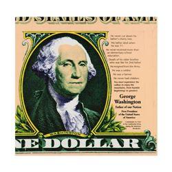 "Steve Kaufman (1960-2010), ""George Washington"" Limited Edition Silkscreen on Canvas, Numbered 24/200"