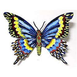 "Patricia Govezensky- Original Painting on Cutout Steel ""Butterfly CLXXVII"""