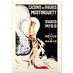 """""""Casino De Paris Mistenquette"""" Hand Pulled Lithograph by the RE Society, Image Originally by Louis G"""