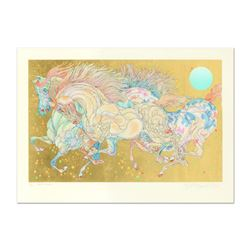"""Guillaume Azoulay, """"Stardust"""" Limited Edition Serigraph with Hand Laid Gold Leaf, Numbered and Hand"""