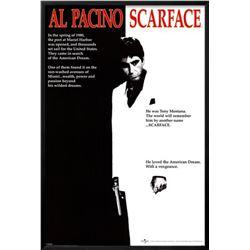 """Scarface"" Custom Framed Movie Poster"