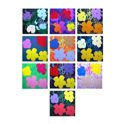 """Andy Warhol """"Flowers Portfolio"""" Suite of 10 Silk Screen Prints from Sunday B Morning."""
