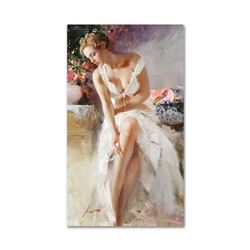 """Pino (1939-2010), """"Angelica"""" Artist Embellished Limited Edition on Canvas (24"""" x 42""""), CP Numbered a"""