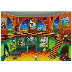 "Alexander Astahov- Original Giclee on Canvas ""Rubik Cube"""