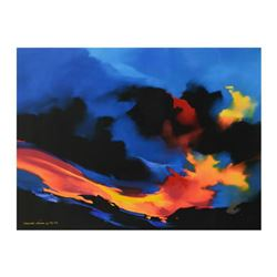 """Thomas Leung, """"Fire Surf"""" Limited Edition on Canvas, Numbered and Hand Signed with Letter of Authent"""
