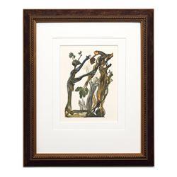 "Salvador Dali- Original Color Woodcut on B.F.K. Rives Paper ""Hell Canto 13"""