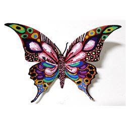 "Patricia Govezensky- Original Painting on Cutout Steel ""Butterfly CLXVI"""