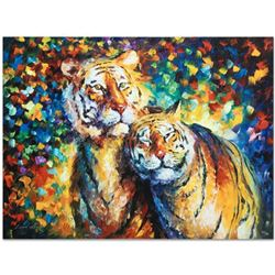 """Leonid Afremov """"Family Portrait"""" Limited Edition Giclee on Canvas, Numbered and Signed; Certificate"""