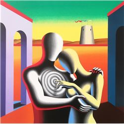 """Mark Kostabi """"THE SOUL WITHIN THE SOUL"""" Original Serigraph"""