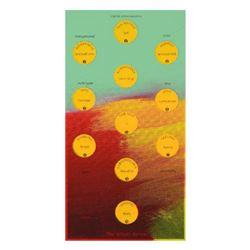 "Steve Kaufman (1960-2010) ""Kabbalah the Whole Person"" One of a kind Hand Painted Silkscreen on Canva"