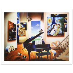 """""""Lover's Song"""" Limited Edition Giclee on Canvas (40"""" x 30"""") by Ferjo, Numbered and Hand Signed by th"""