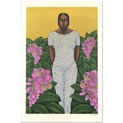 """Nivia Gonzales (1946-2017), """"Echoes Of Edens Lost"""" Limited Edition Serigraph with Gold Leaf, Numbere"""