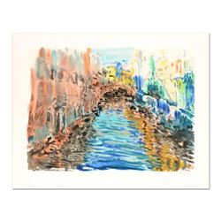 """Marco Sassone, """"Santa Luga"""" Limited Edition Serigraph, Numbered and Hand Signed with Letter of Authe"""