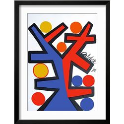 "Alexander Calder ""Asymetrie"" Custom Framed Lithograph"