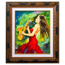 "Taras Sidan- Original Oil on Canvas ""Live Show"""