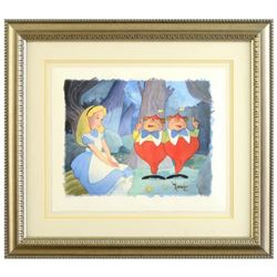 """Toby Bluth (1940-2013), """"Contrarywise"""" Framed Limited Edition Giclee, Licensed by Disney Fine Art, N"""