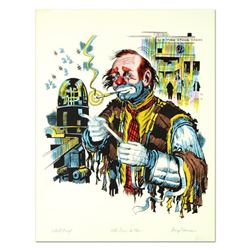 """George Crionas (1925-2004), """"The Dow is Up"""" Hand Embellished Limited Edition Lithograph, Numbered an"""