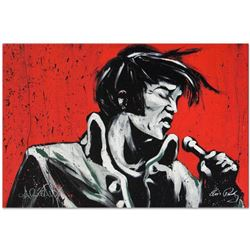 """""""Elvis Presley (Revolution)"""" Limited Edition Giclee on Canvas by David Garibaldi, Numbered from Mini"""