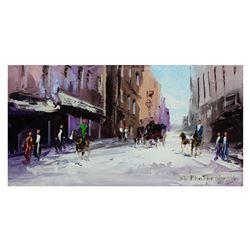 "Shalva Phachoshvili- Original Oil on Canvas ""Weekend"""