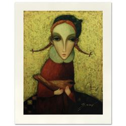 "Legendary Russian Artist Sergey Smirnov (1953-2006). ""Yana"" Limited Edition Mixed Media on Canvas, N"