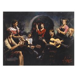 """Fabian Perez, """"La Juerga"""" Hand Textured Limited Edition Giclee on Board. Hand Signed and Numbered."""