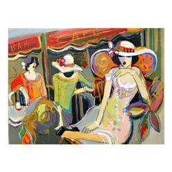 """Isaac Maimon, """"Carrying Your Heart with Me"""" Original Acrylic Painting, Hand Signed with Certificate"""