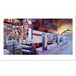 """Ken Keeley, """"My Underground: 34th St Station"""" Limited Edition Serigraph, Numbered and Hand Signed."""