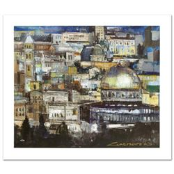 """Jerusalem at Dusk"" Limited Edition Giclee on Canvas by Alex Zwarenstein, Numbered and Hand Signed w"