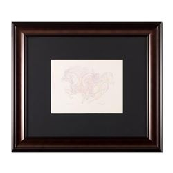 "Guillaume Azoulay, ""Etude AZI"" Framed Original Drawing, Hand Signed with Letter of Authenticity."