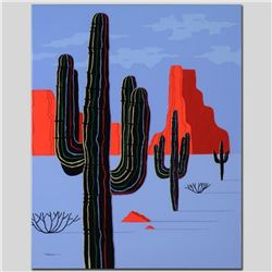 """Cacti"" Limited Edition Giclee on Canvas by Larissa Holt, Numbered and Signed with COA. This piece c"