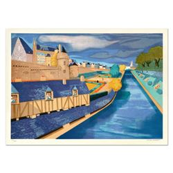 """Georges Lambert (1919-1998), """"Etretat"""" Limited Edition Lithograph, Numbered and Hand Signed."""