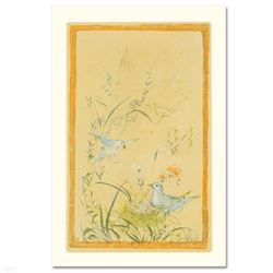 """""""Printemps"""" Limited Edition Lithograph by Edna Hibel, Numbered and Hand Signed with Certificate of A"""