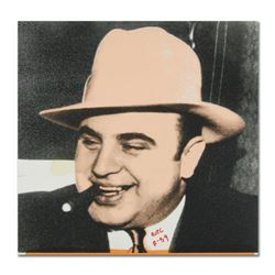 """Ringo, """"Al Capone"""" One-of-a-Kind Hand-Pulled Silkscreen and Mixed Media Painting on Canvas, Hand Sig"""