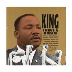 """Steve Kaufman (1960-2010), """"Martin Luther King"""" Limited Edition Silkscreen on Canvas, Numbered 36/50"""