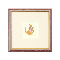 """""""Kanga"""" Framed Limited Edition Etching with Hand-Tinted Color and Numbered."""