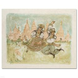 """""""Russian Dancers"""" Limited Edition Lithograph by Edna Hibel (1917-2014), Numbered and Hand Signed wit"""