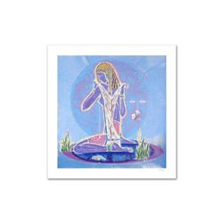 """""""Adolescence"""" Limited Edition Serigraph (38.5"""" x 37"""") by Renowned Artist Lu Hong, Numbered and Hand"""