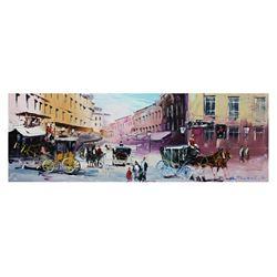 "Shalva Phachoshvili- Original Oil on Canvas ""In The Past"""