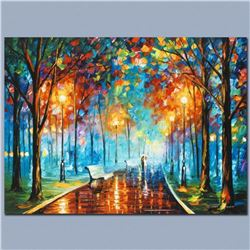 """Leonid Afremov """"Misty Mood"""" Limited Edition Giclee on Canvas, Numbered and Signed; Certificate of Au"""