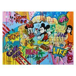 """Nastya Rovenskaya- Original Oil on Canvas """"Disney in Town"""""""
