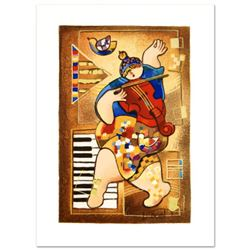 """Dorit Levi, """"Dancing on Bars"""" Limited Edition Serigraph, Numbered and Hand Signed with Certificate o"""