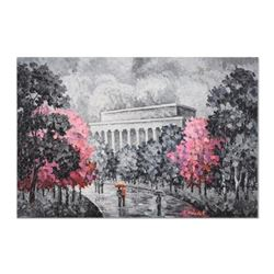 """Alexander Antanenka, """"Monumental Cherry Blossoms"""" Original Oil Painting on Canvas, Hand Signed with"""