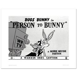 """""""Person To Bunny"""" Limited Edition Giclee from Warner Bros., Numbered with Hologram Seal and Certific"""